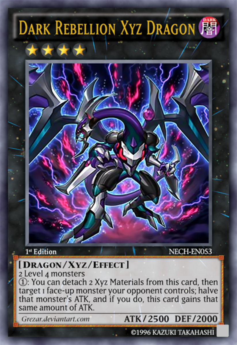 Dark Rebellion XYZ Dragon. Despite its effect being readable when played, it never ceases to surprise opponents in Arc-V.