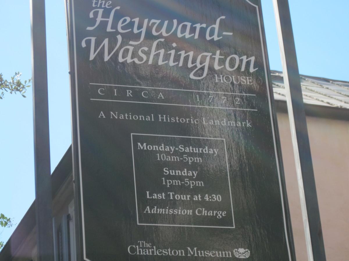 Sign Outside Heyward-Washington House