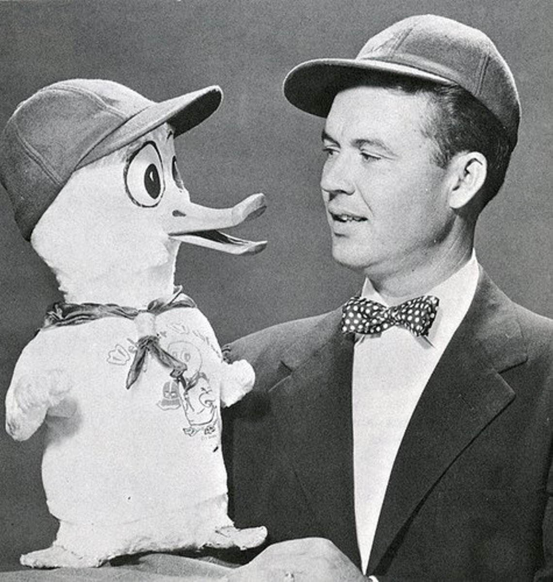 The other was in voice actor Jimmy Weldon's Webster Webfoot puppet he performed on local children shows