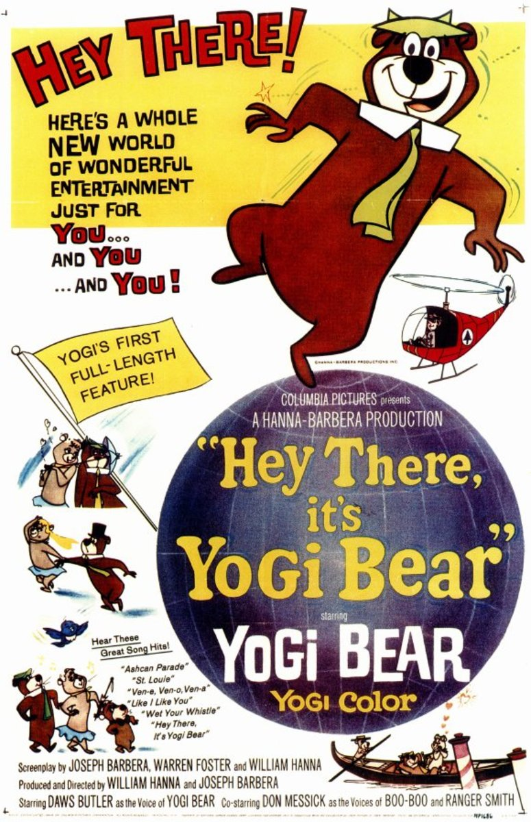 """Hey There, It's Yogi Bear"", released in 1964, was the very first feature film Hanna-Barbera produced"