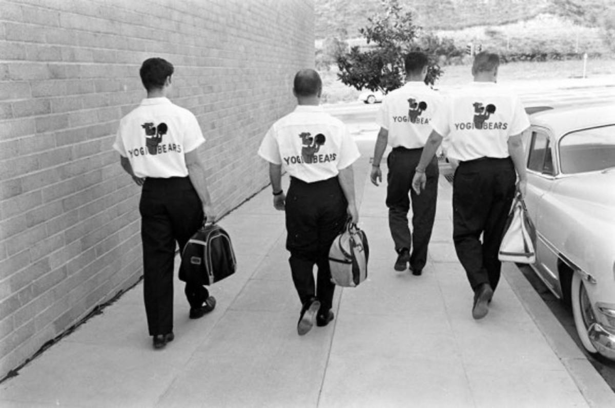 "Hanna-Barbera's bowling team during the early 60's, the ""Yogi Bears"""