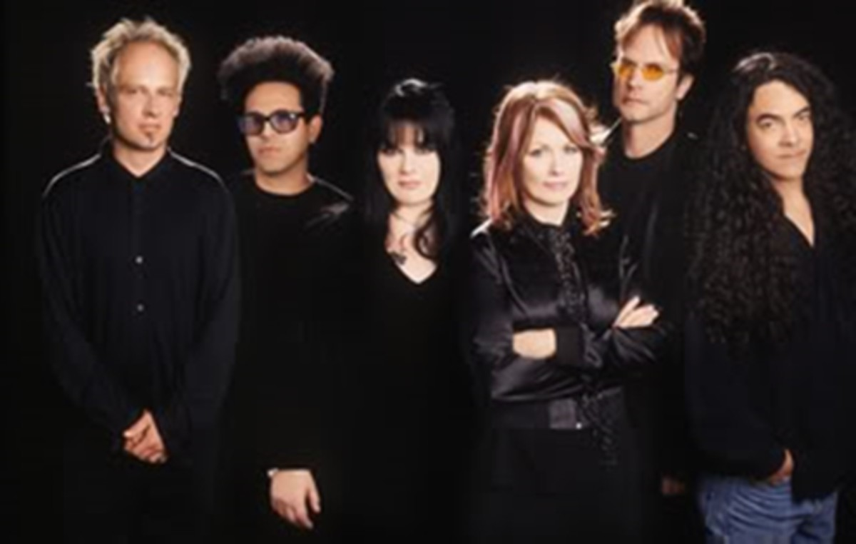 "Group photo of ""The Lovemongers"" taken in 1994 -- post ""Desire Walks On""."