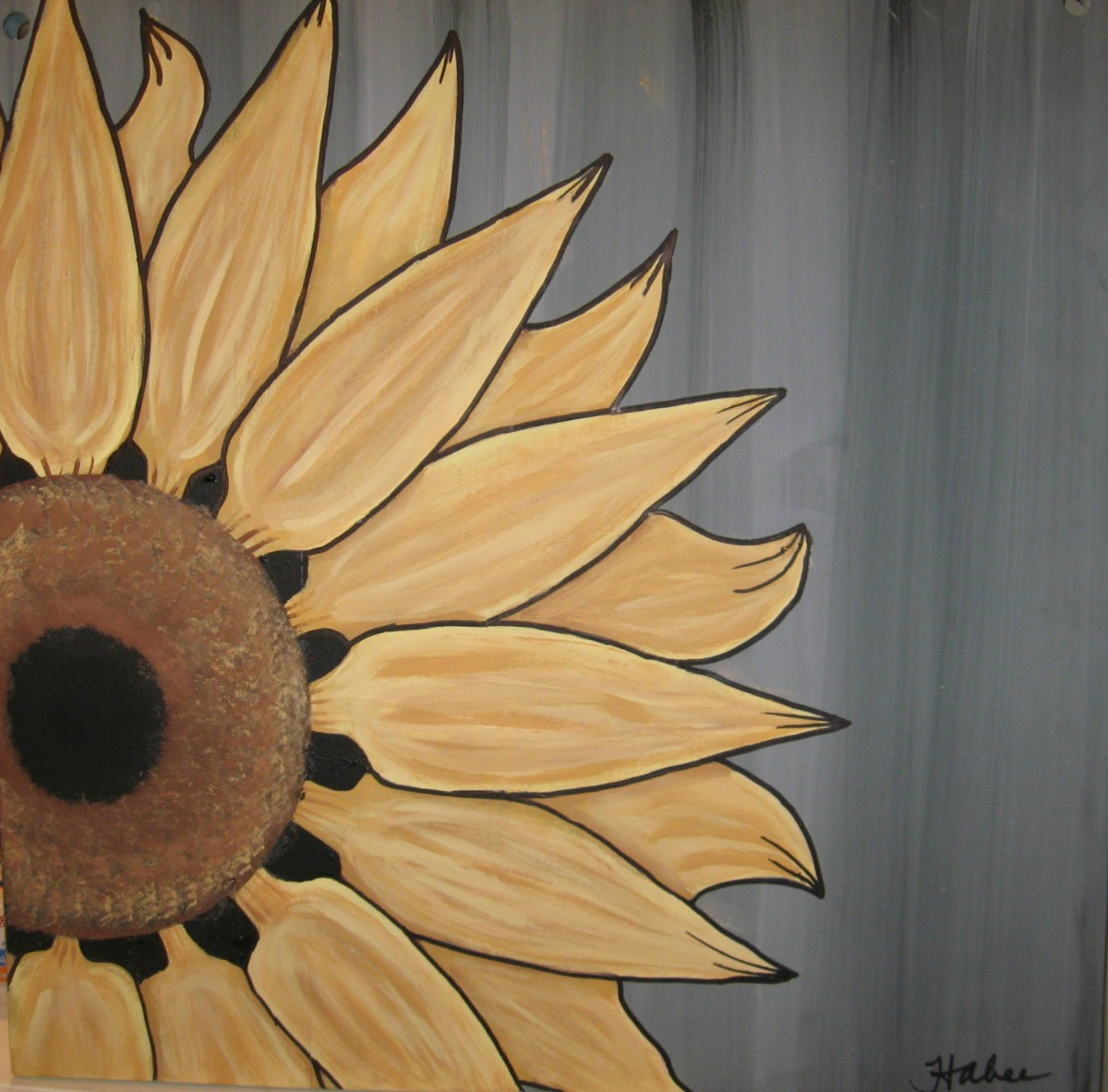 Sunflower on Planks
