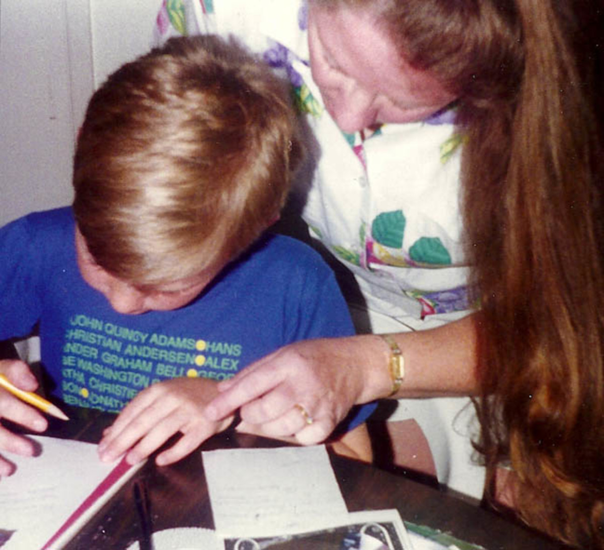 Homeschooler with help from mom.
