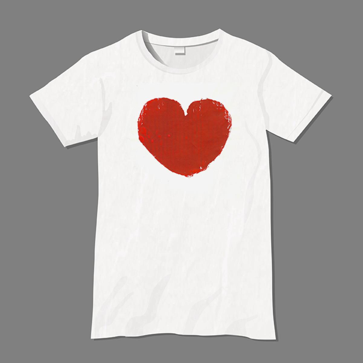 Cardboard block print T-shirt.