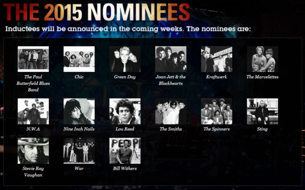 2015 Rock And Roll Hall Of Fame Nominees
