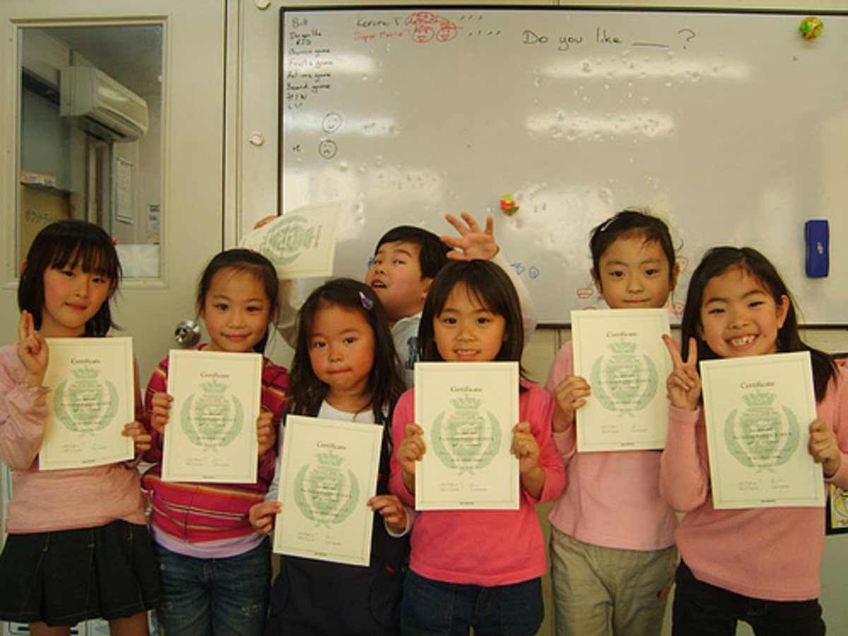 If you're considering teaching in Japan I'd suggest reading the article this picture is from.