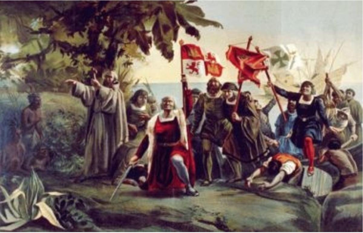 Source 6: Dióscoro Teófilo Puebla Tolín - The First Landing of Christopher Columbus in America (1862)