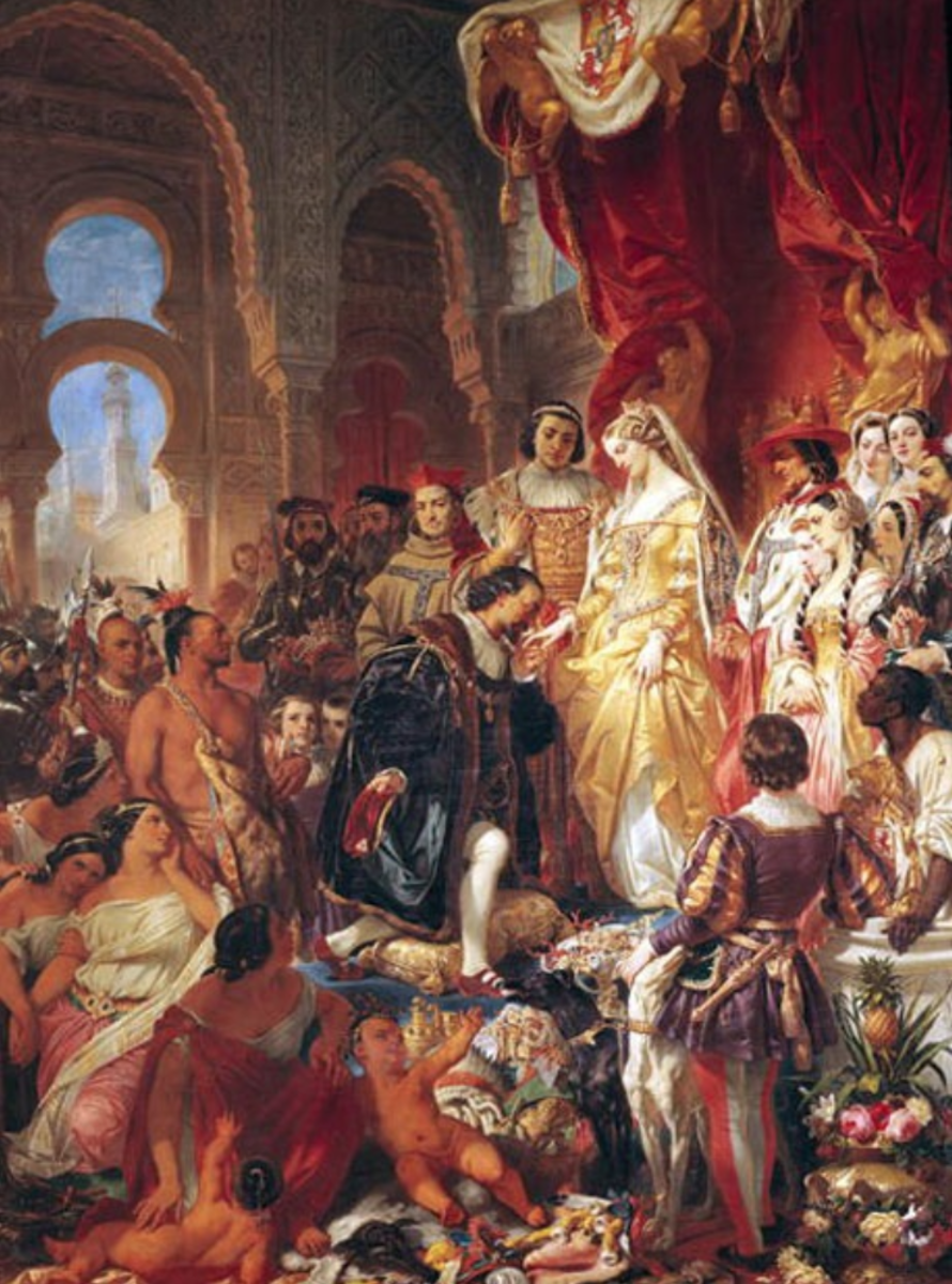 Source 3: Eugène Devéria: Columbus Before the Queen (1861)