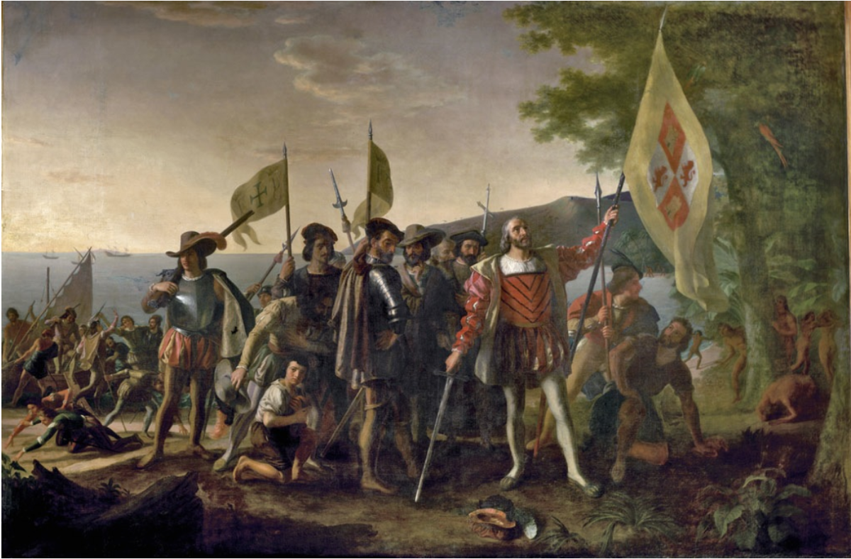 Source 2: John Vanderlyn's painting, 'Landing of Columbus', commissioned in 1836/1837.