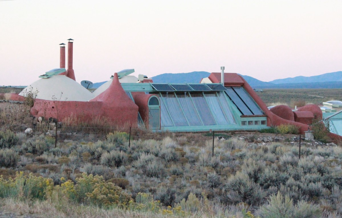Earthship near Taos, New Mexico.  No two ships are the same.