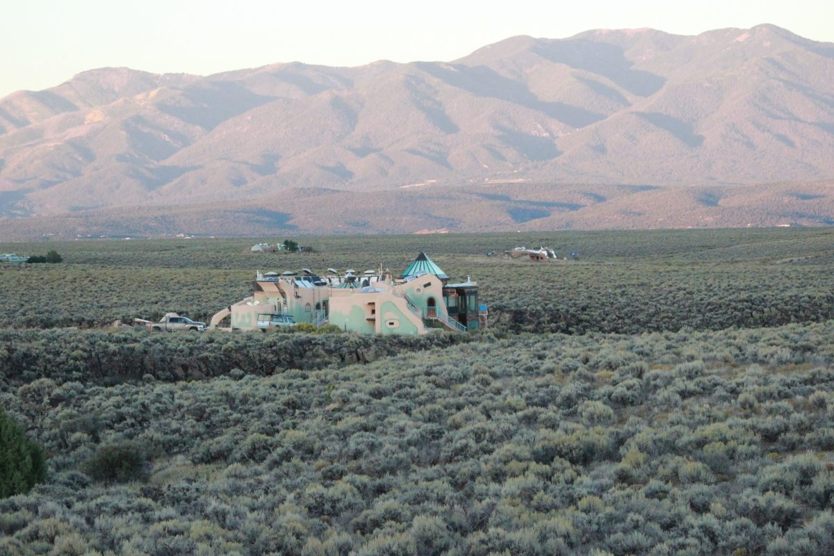 Earthship near Taos, New Mexico.