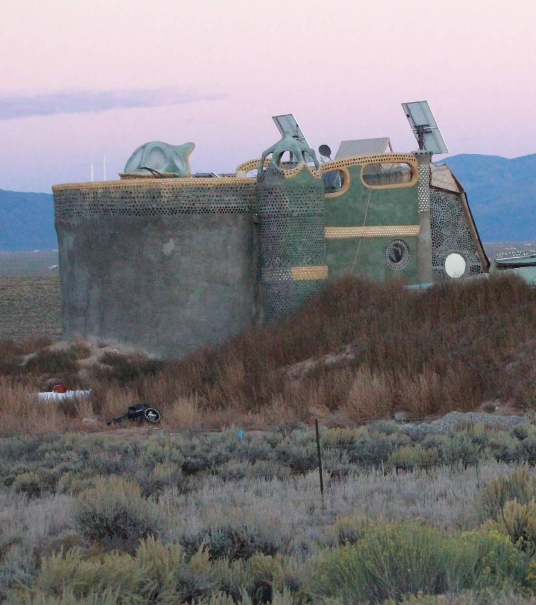 Earthship near Taos, New Mexico.  Earthships are not only made to be practical, but aesthetically pleasing, as well.