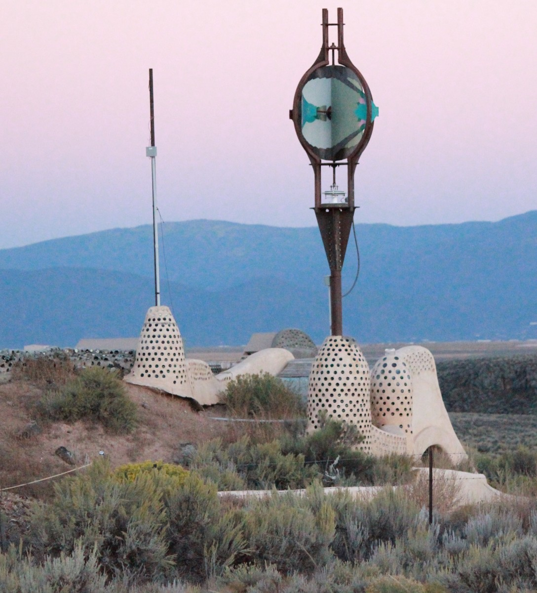 Earthship of Taos, New Mexico.  Where practical meets beautiful.