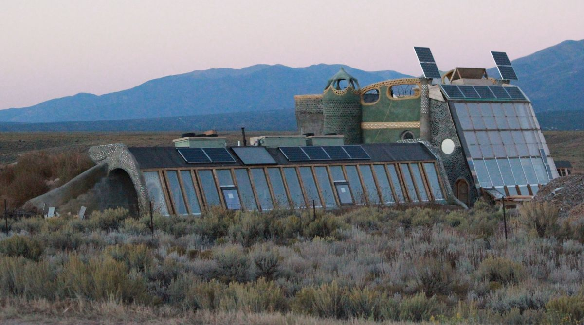 Earthship of Taos, New Mexico.  More windows means more growing power.