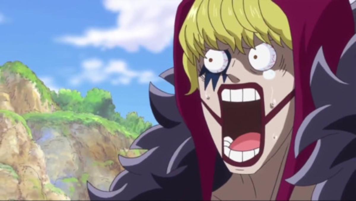 Rosinante's facial expression.