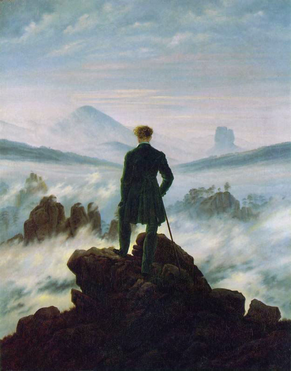 """I personally find Caspar David Friedrich's famous painting """"Wanderer Above the Sea of Fog"""" to describe both Nietzsche's life and philosophy. Solitary yet grandiose, tiny yet remarkably important."""