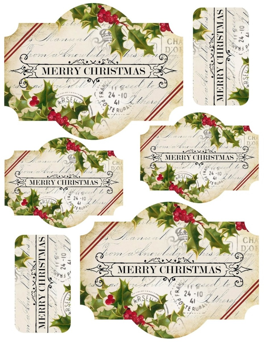 Beautiful printable vintage tags for Christmas from lilac-n-lavender.blogspot.com.  Visit this site and get these tags and more printable holiday ideas by clicking on the picture.