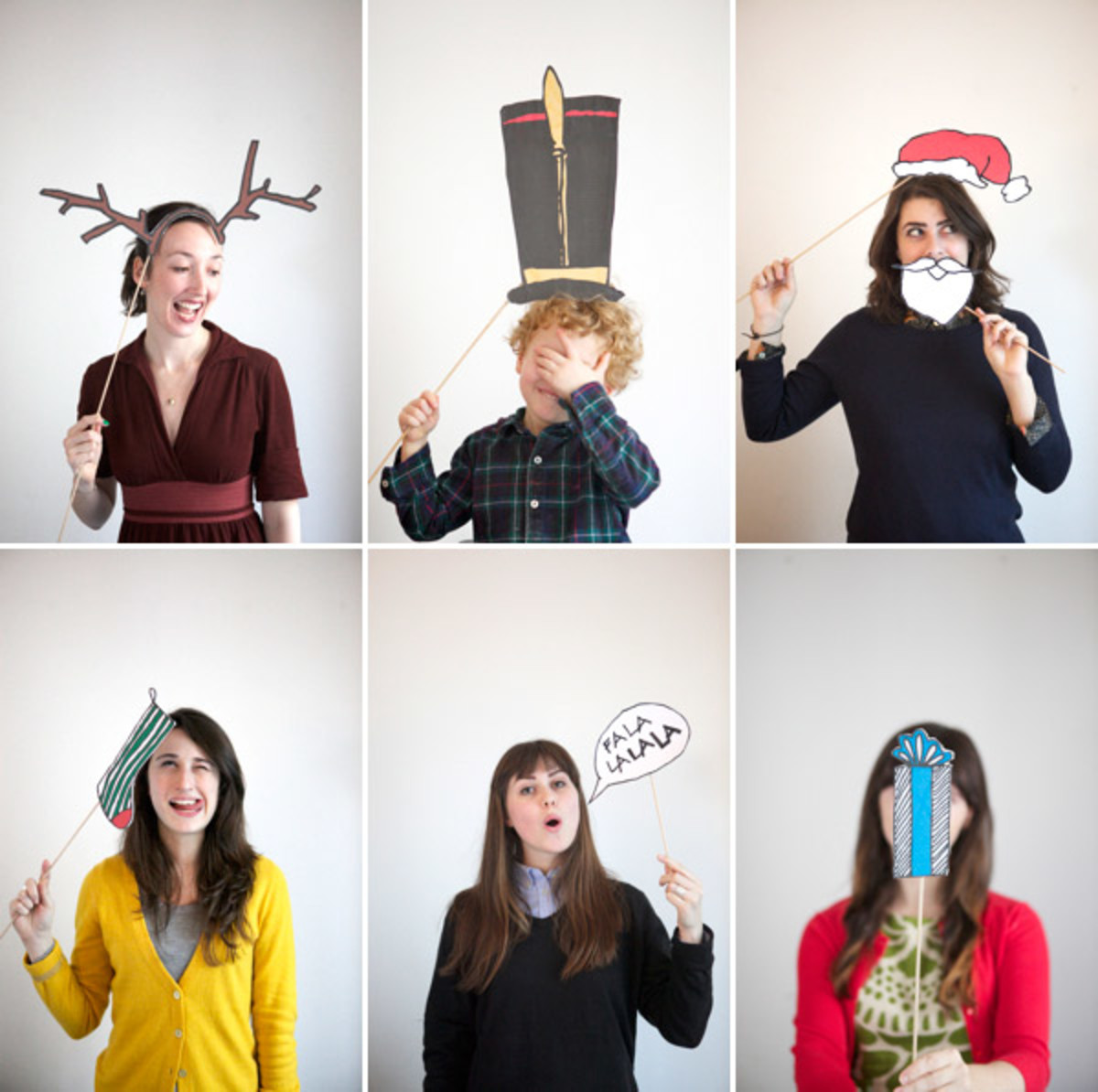 These Free Printable Christmas Props Will Add Lots Of Fun To That Holiday Party Or Celebration!