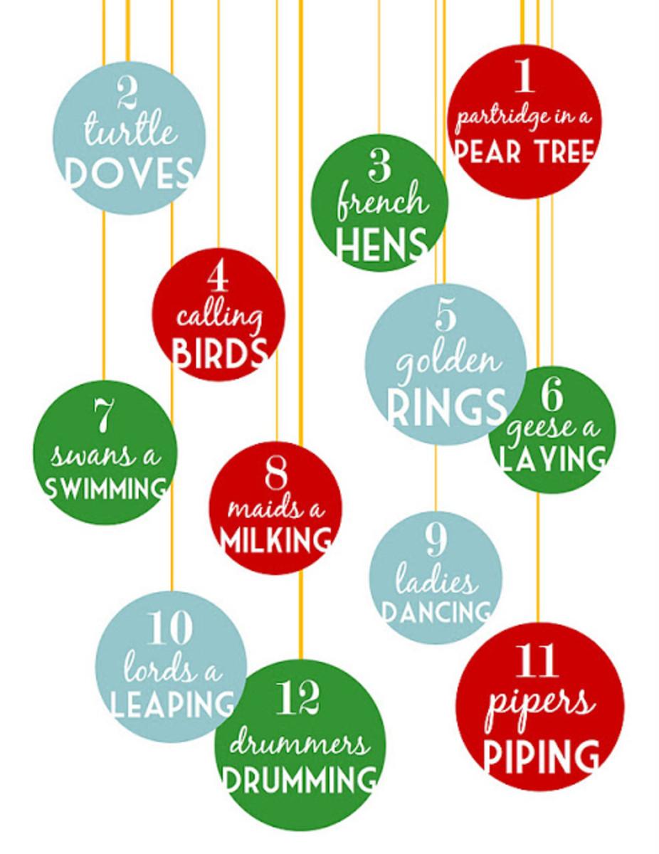 12 Days Of Christmas Printable Decoration For You To Make