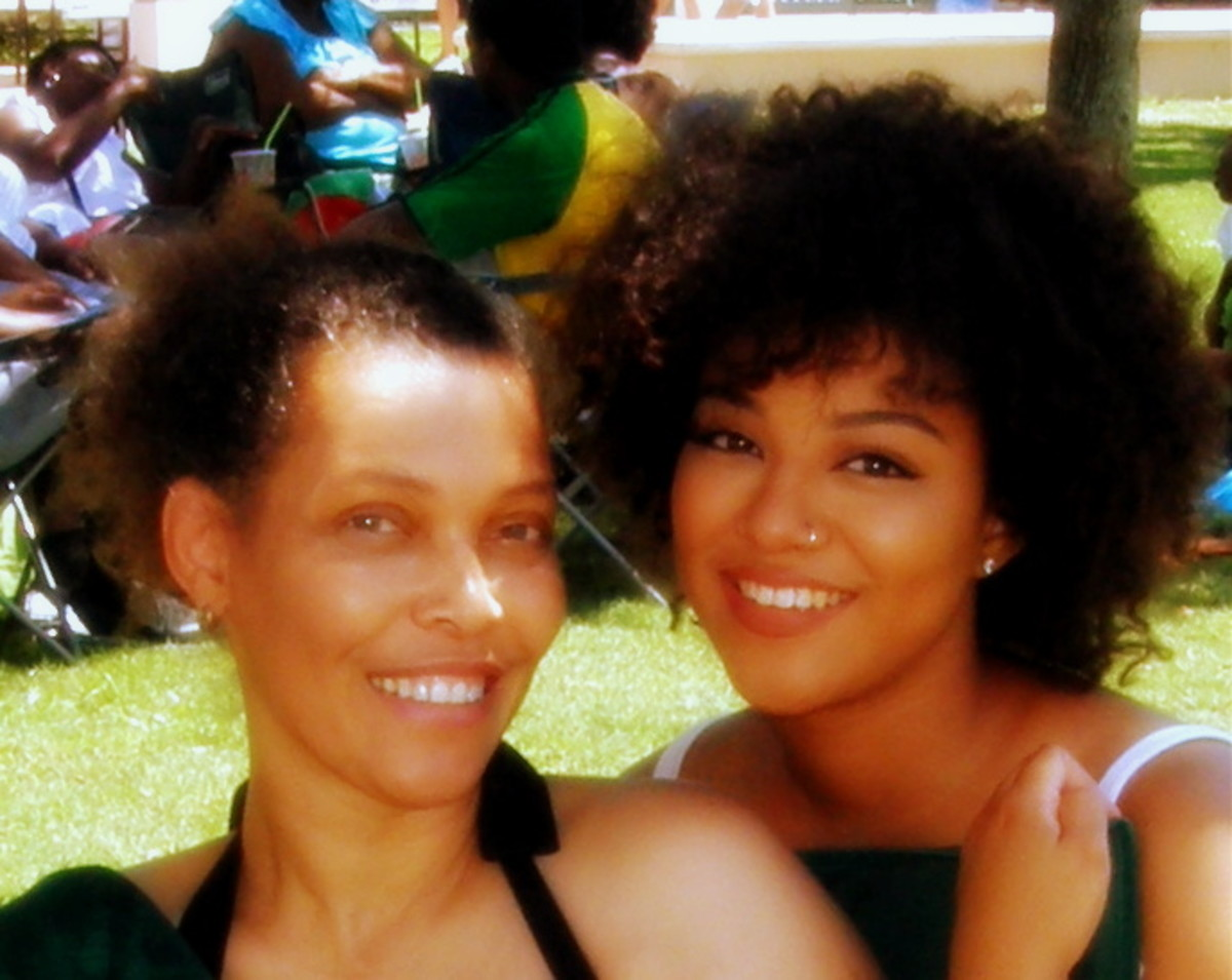 My daughter and I at the annual Caribbean Festival