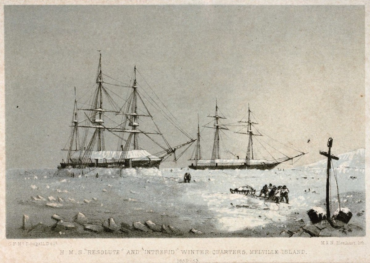 Drawing by Master George Frederick McDougall; Michael Hanhart; Nicholas Hanhart.  When George Frederick McDougall drew the picture after which this print was made, he was a Master on H.M.S. Resolute.