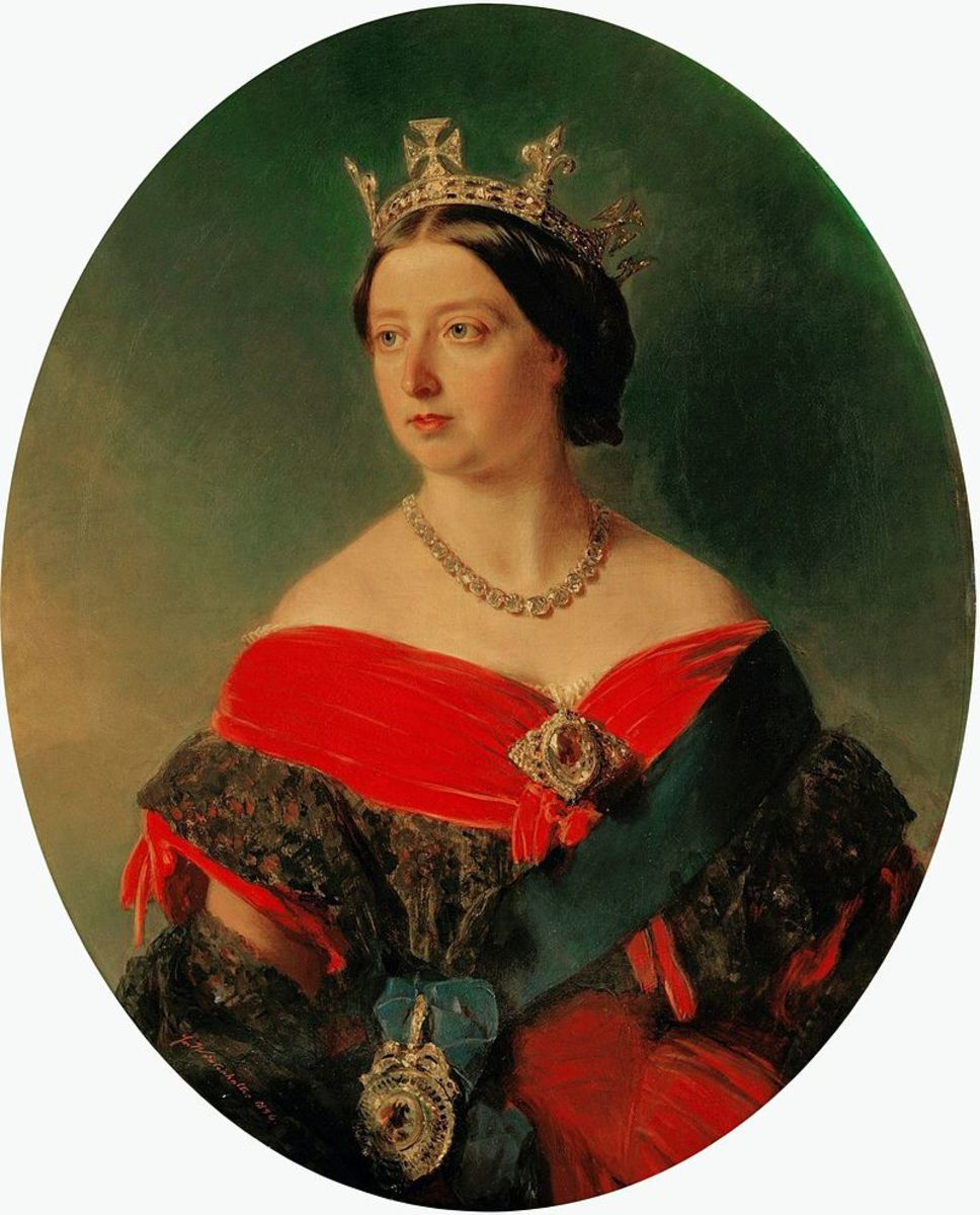 Franz Xaver Winterhalter (1805-1873) painting of Queen Victoria.
