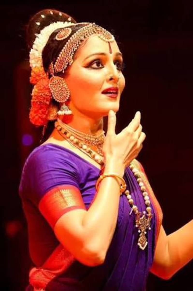 Eye gestures and hand gestures are used beautifully in Indian dance forms