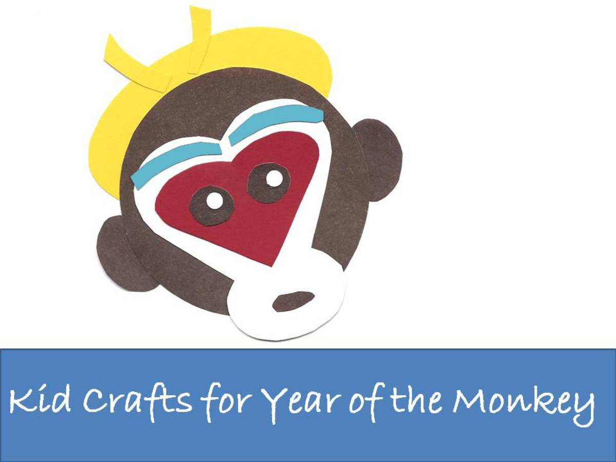Coloring Pages For New Years 2016 : Kid crafts for year of the monkey chinese new year art projects