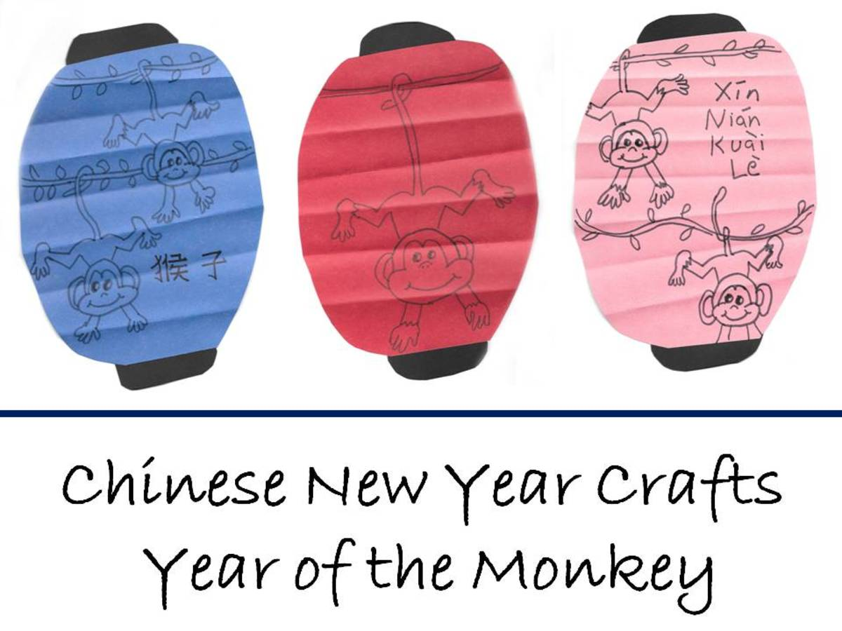 Monkey lanterns--easy to make and so cute!