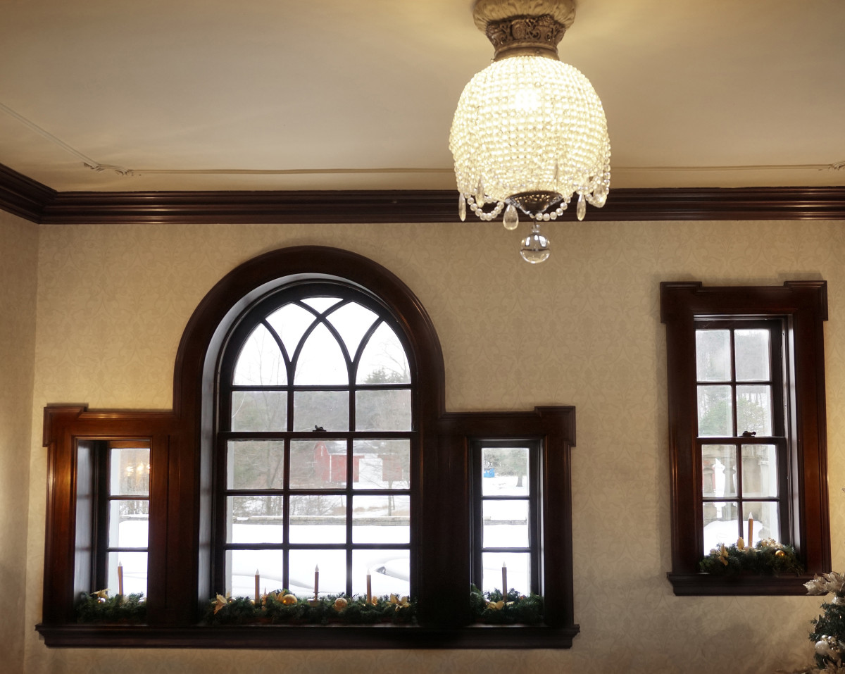 Felt Mansion Windows of First Level Landing off the Main Staircase