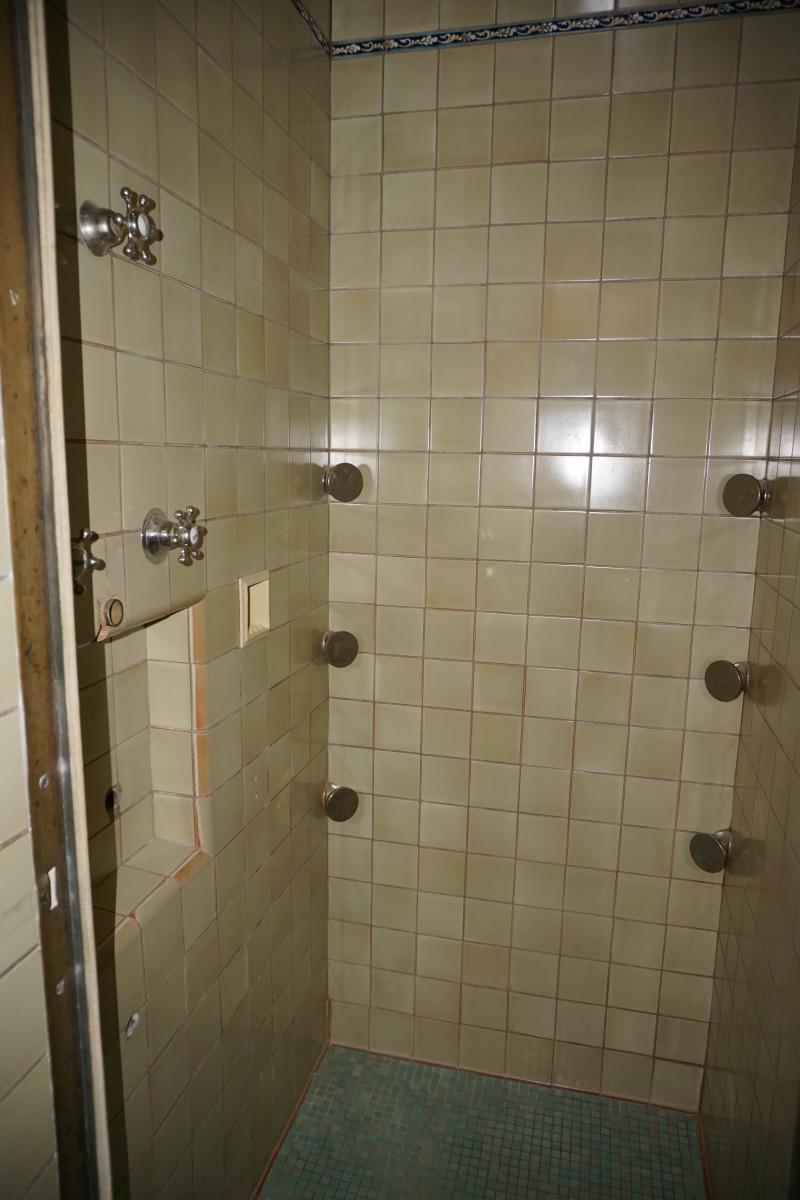 Felt Mansion First Floor Guest Bathroom Shower Stall