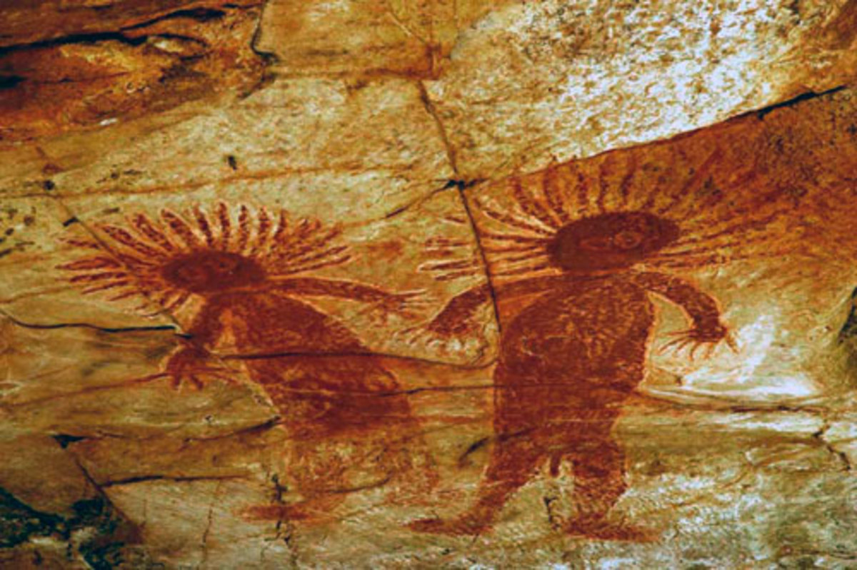 Early Aboriginal cave paintings