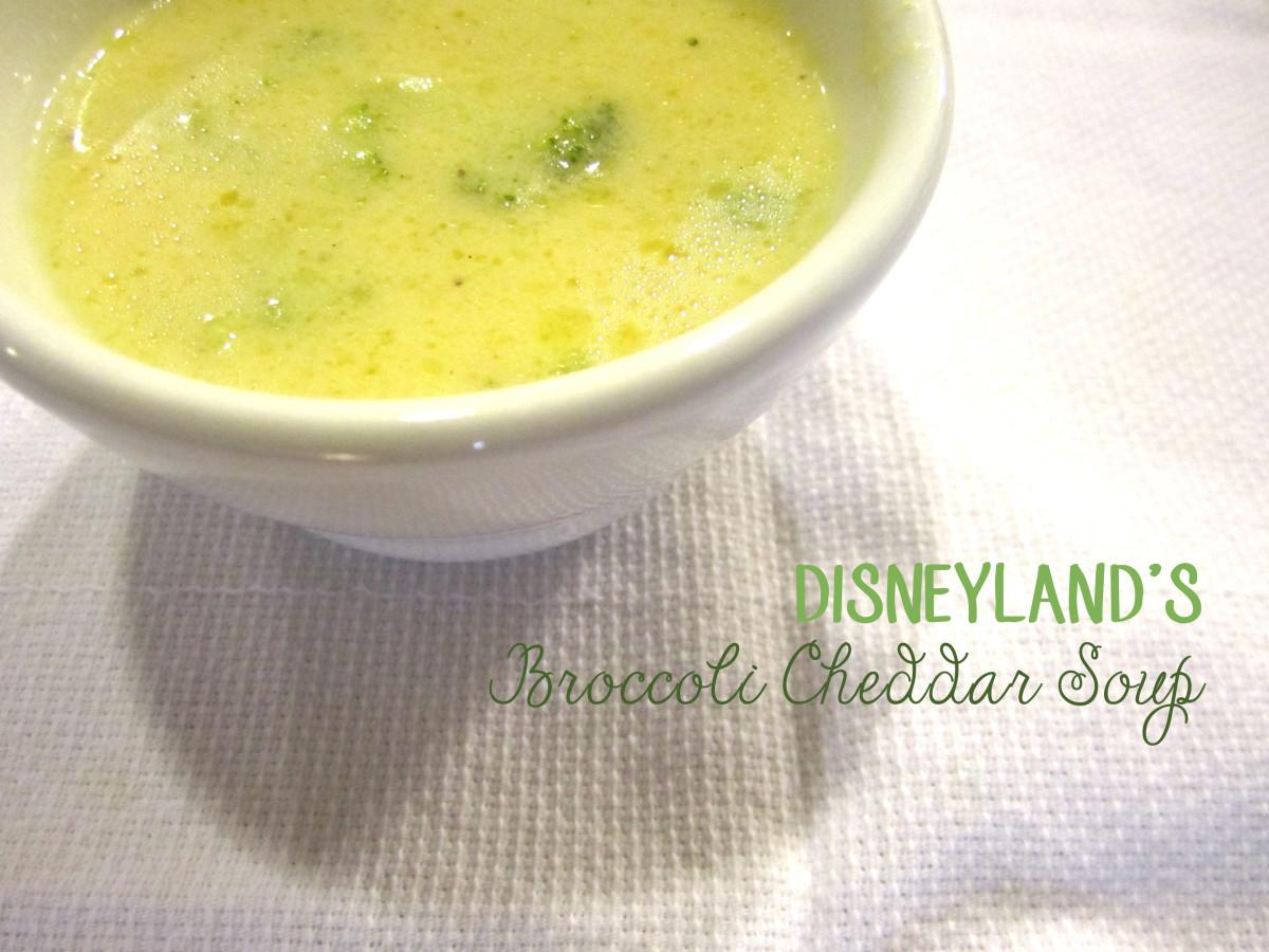 Disneyland's Broccoli Cheddar Soup