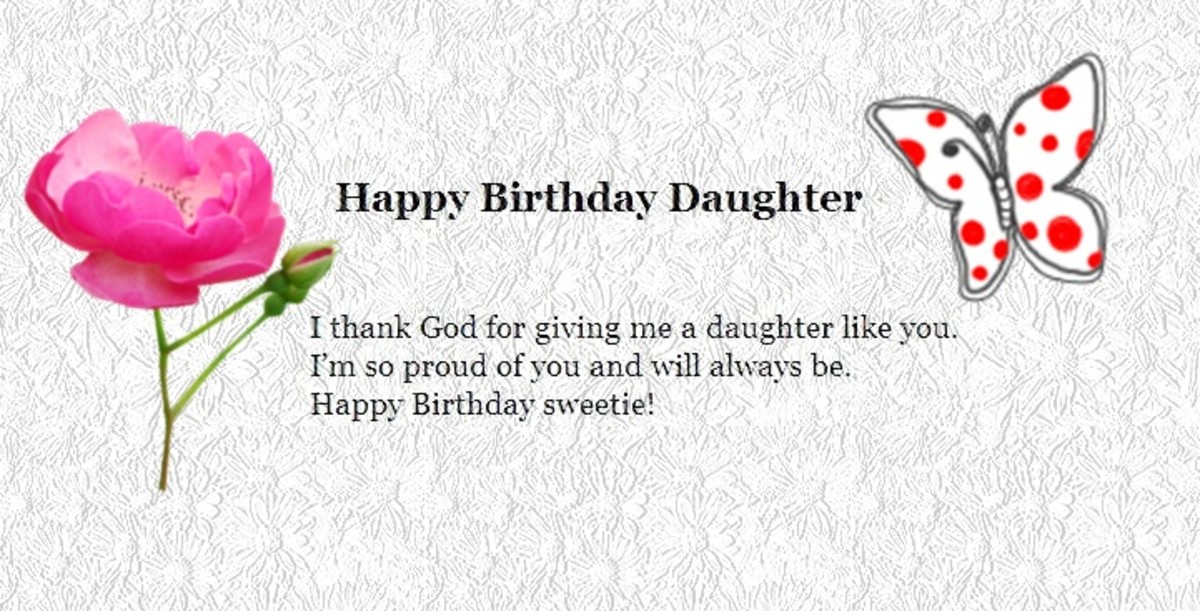 Happy Birthday Wishes to My Daughter from Dad & Mom