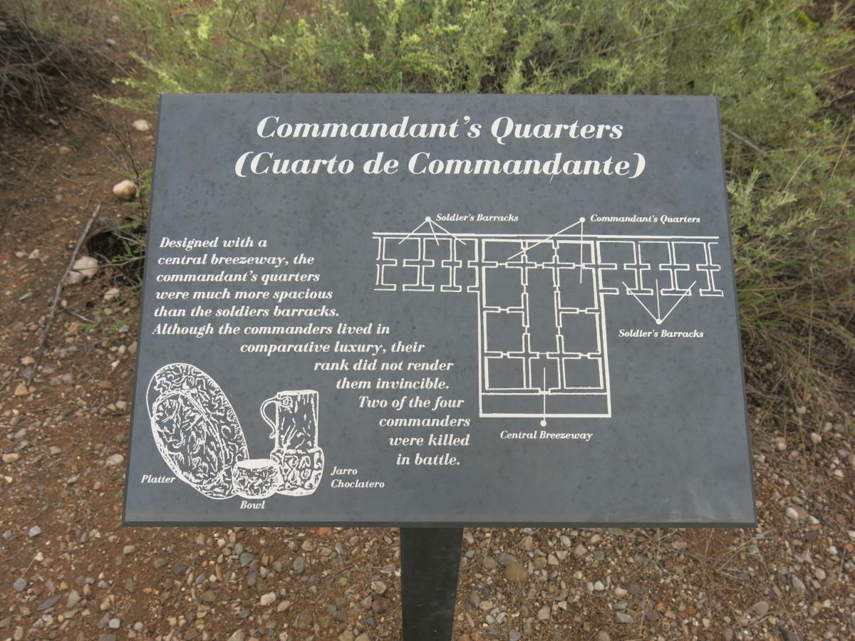 Sign Showing Layout of Commandant's Quarters in Presidio Santa Cruz de Terrenate