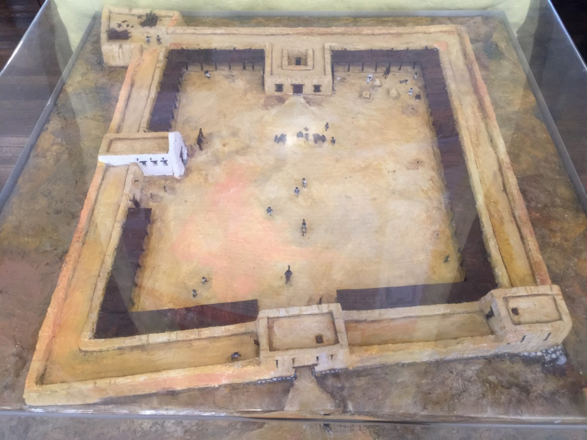 Model depicting Presidio Santa Cruz de Terrenate as it appeared in 1780