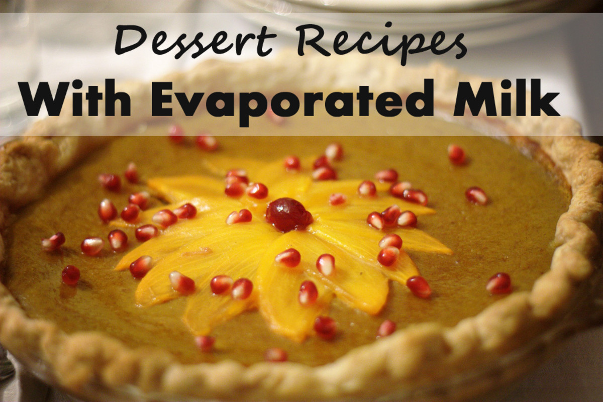 Pumpkin pie topped with persimmon slices and pomegranate seeds.