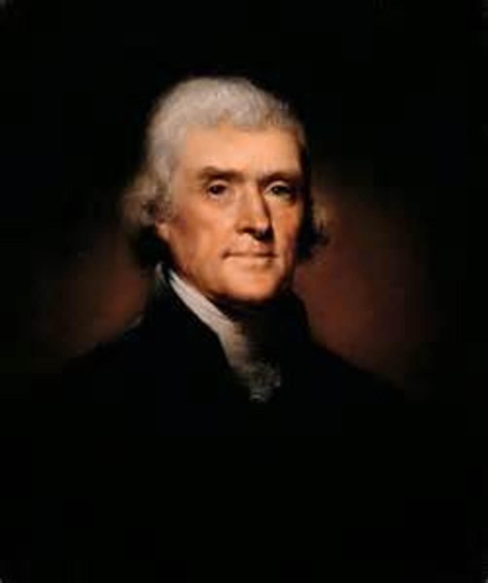Thomas Jefferson, 3rd President of the United States of America.