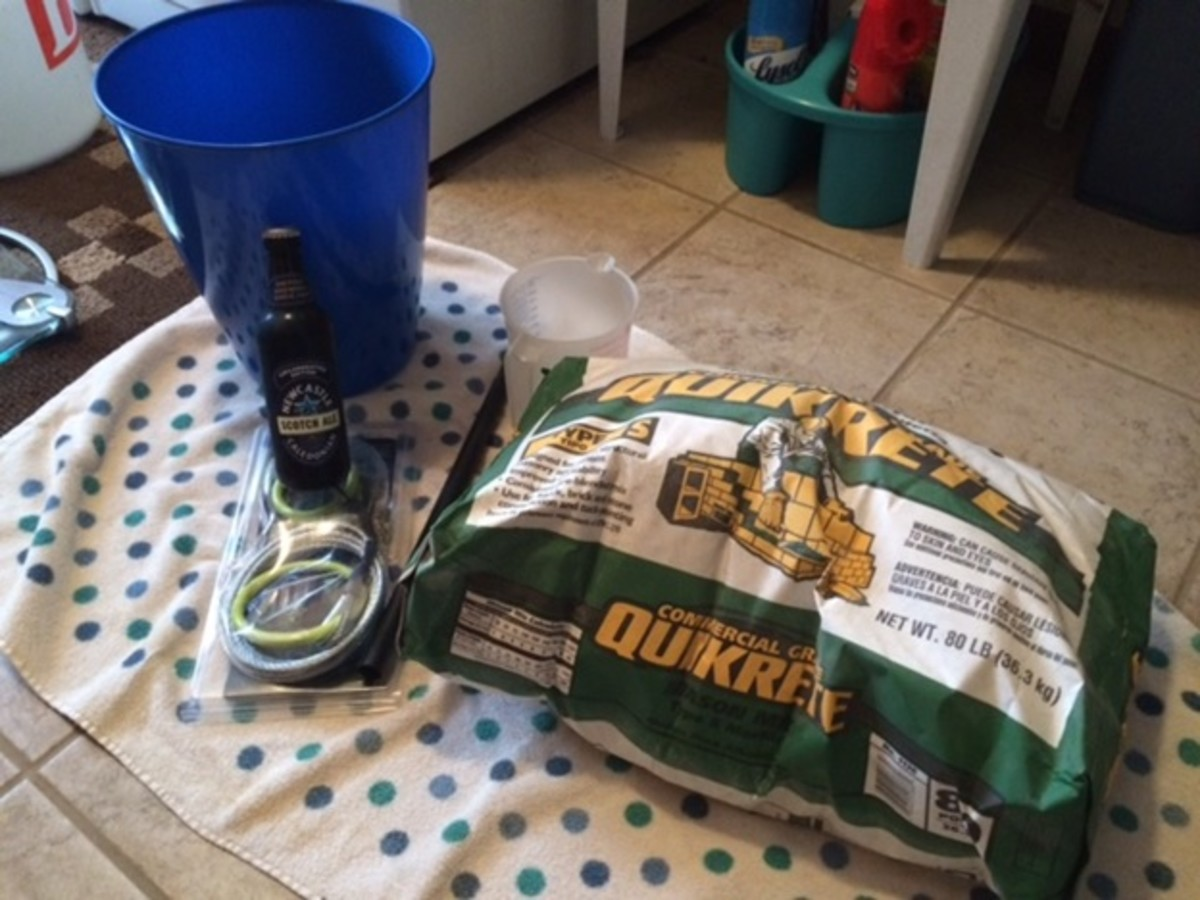 Note the beer -- necessary when DIYing your equipment. :D