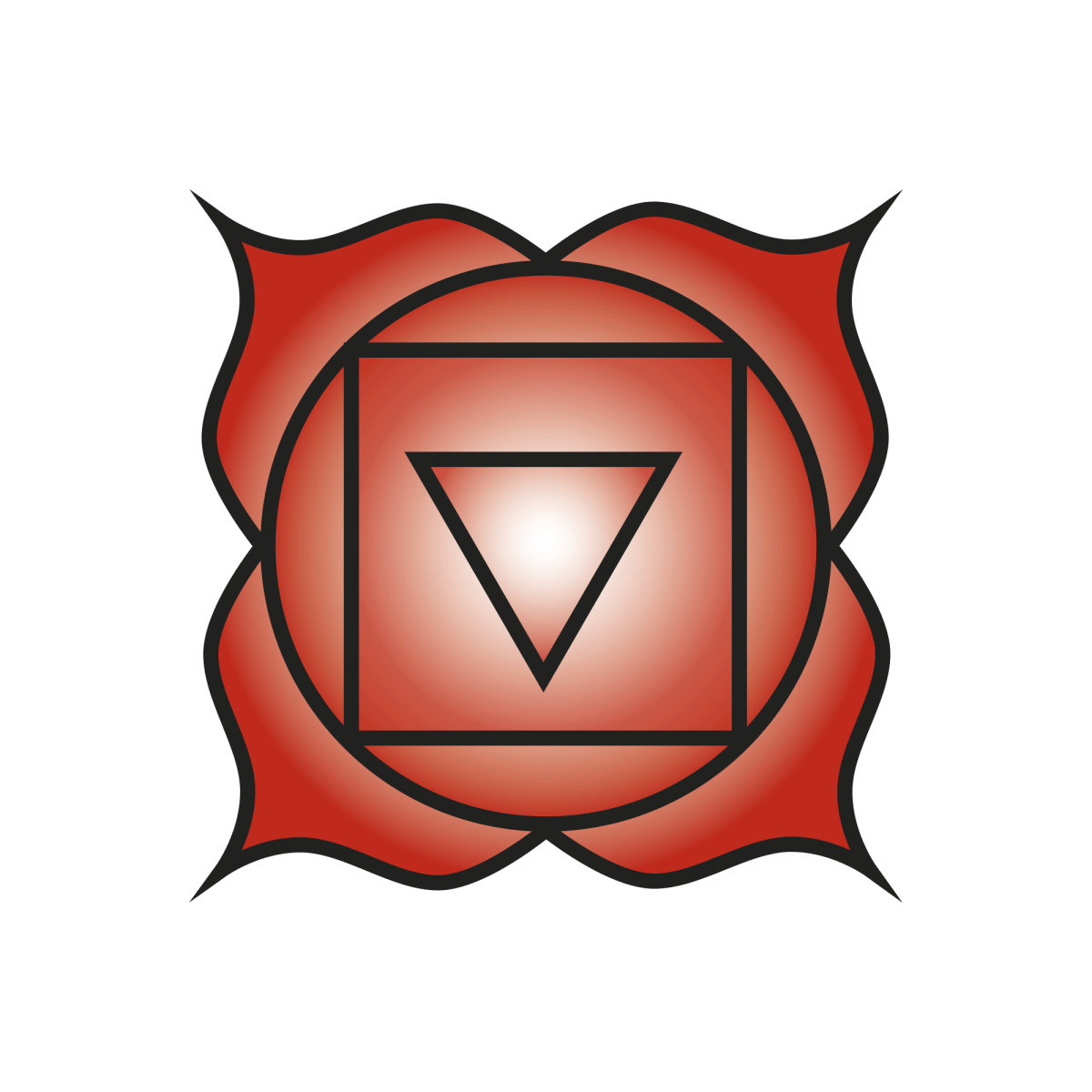The root chakra is related to the color red.