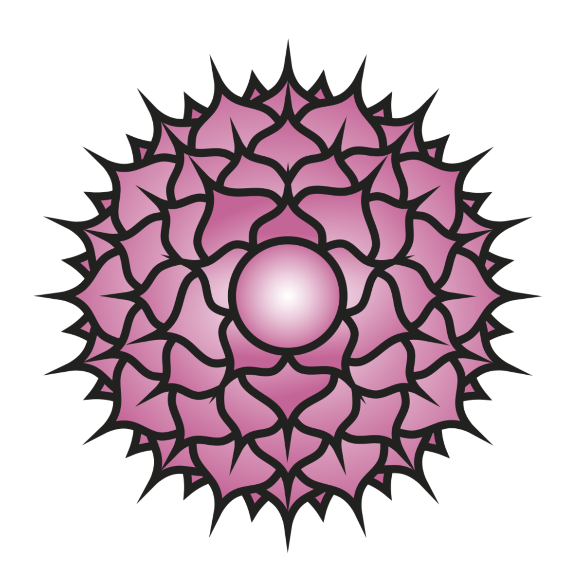 The crown chakra is related to purple or white.