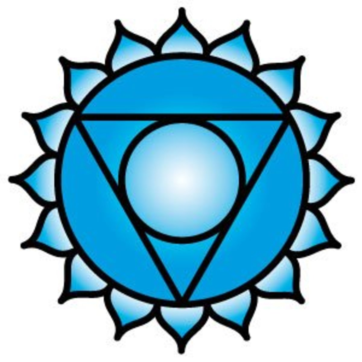 The throat chakra is related to the color blue.
