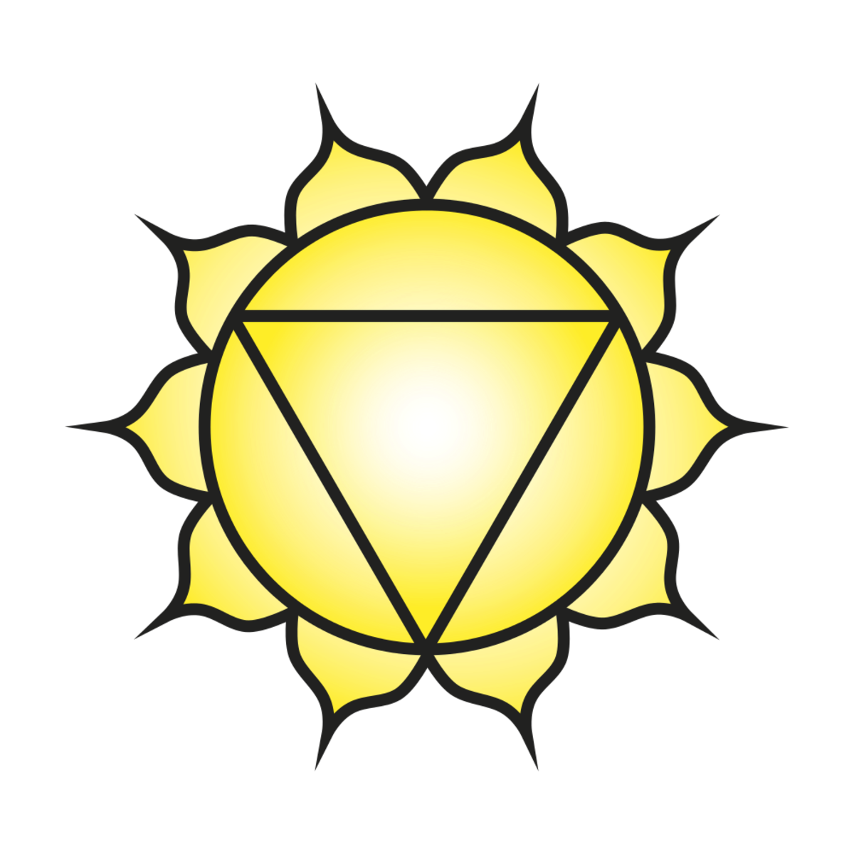 Yellow is the color of the solar plexus chakra.