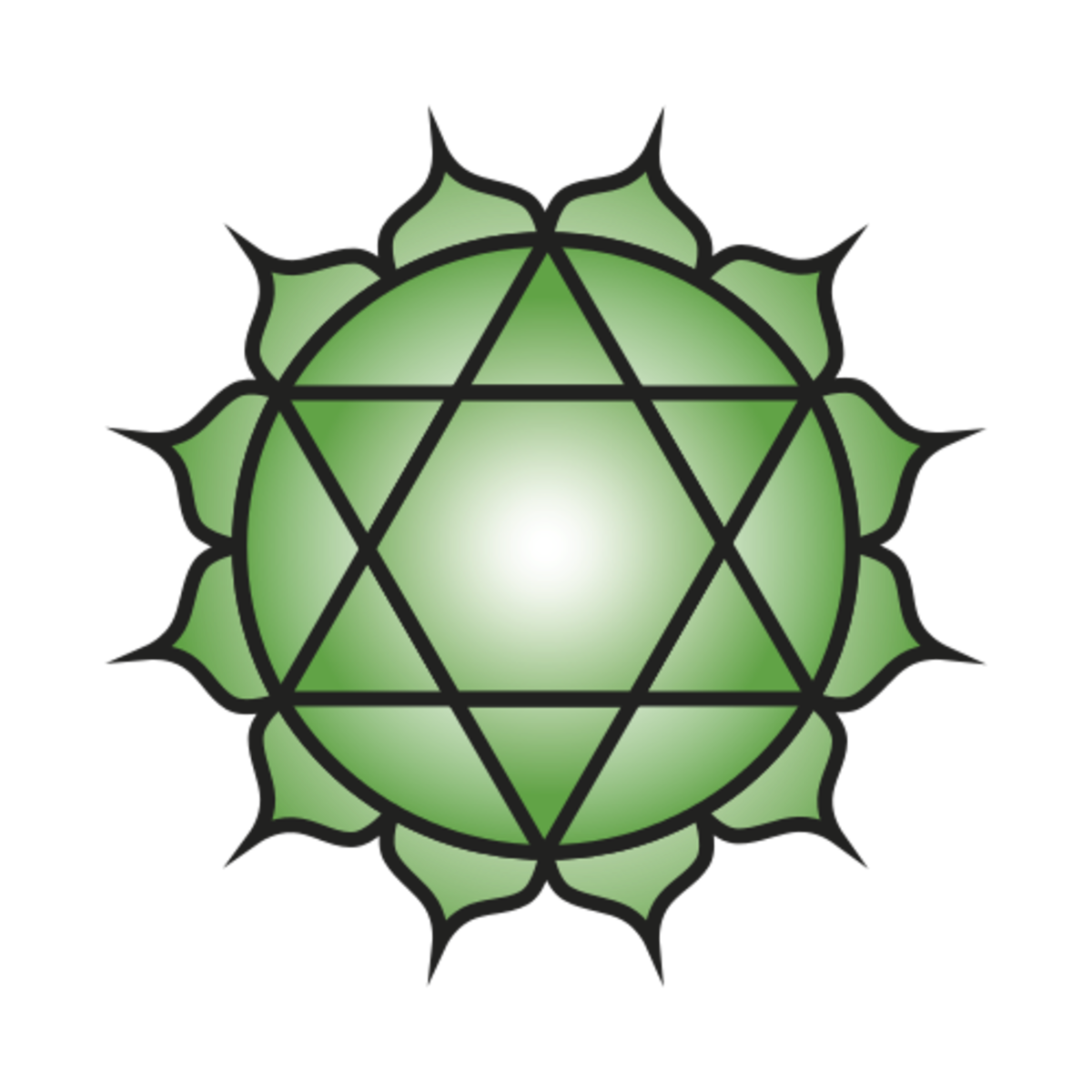 Green is the color of the heart chakra.