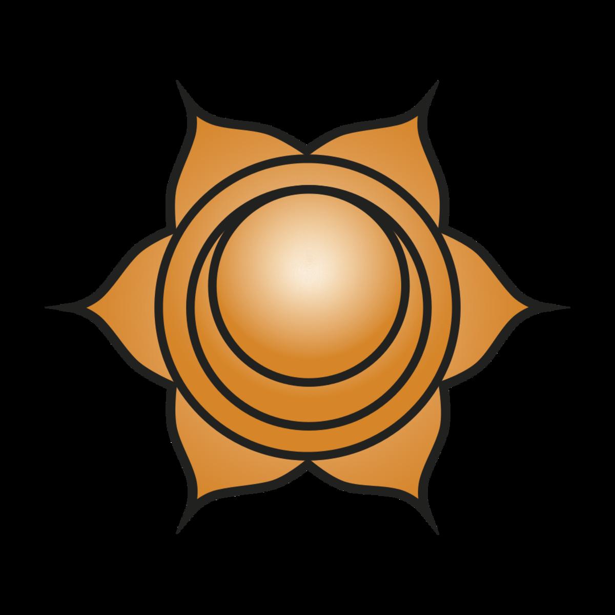 Orange can be symbolic of the sacral chakra.