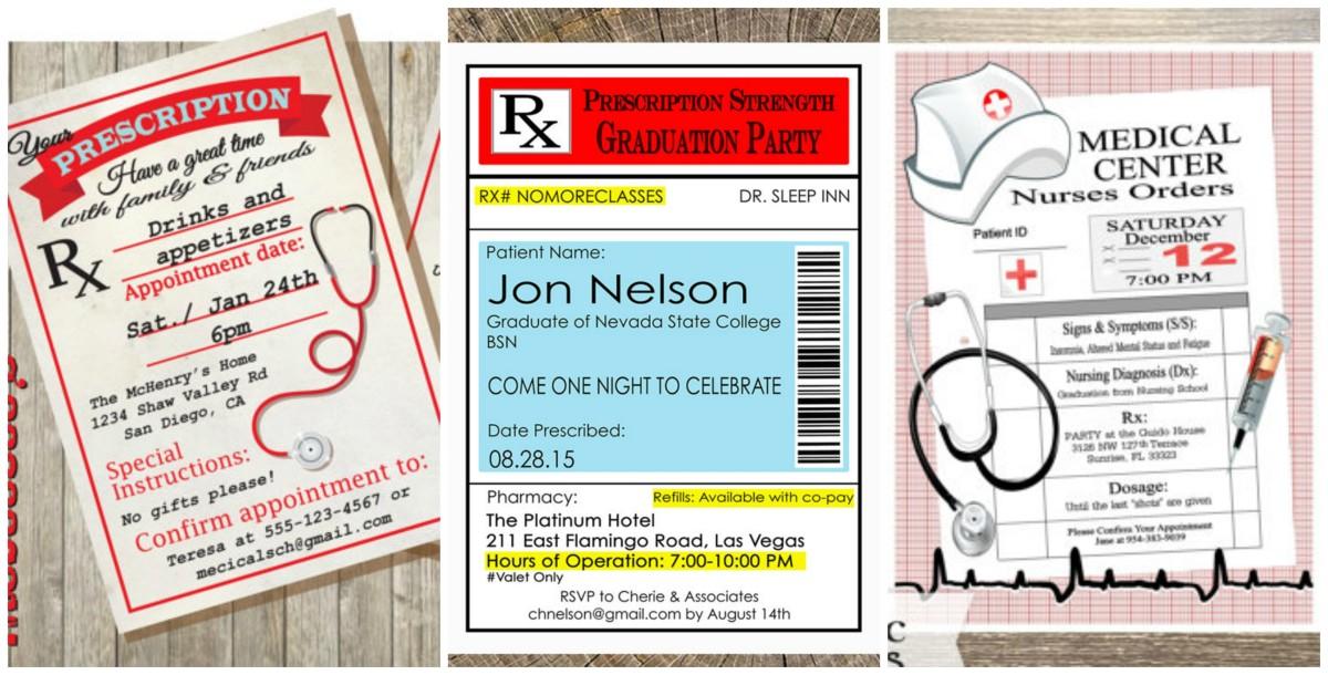 Some invitation samples found on etsy.com