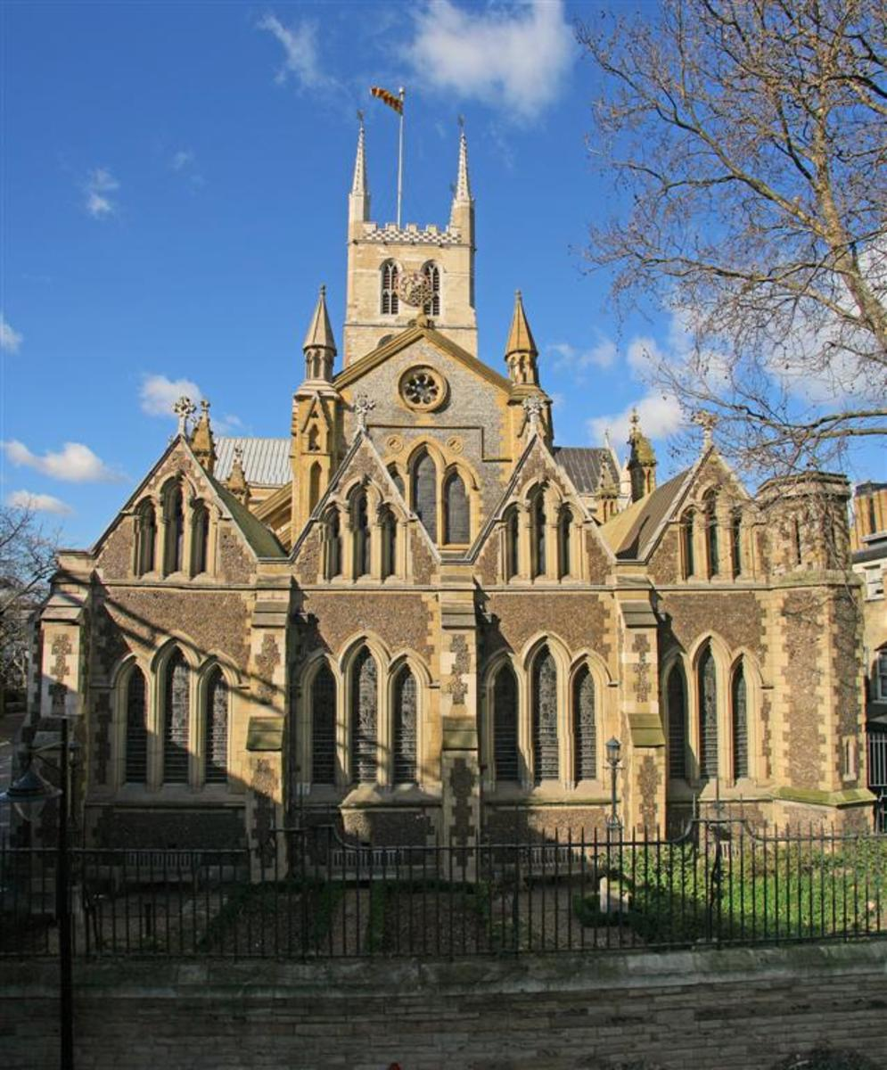 Southwark Cathedral, dedicated to St Saviour and St Mary Overie