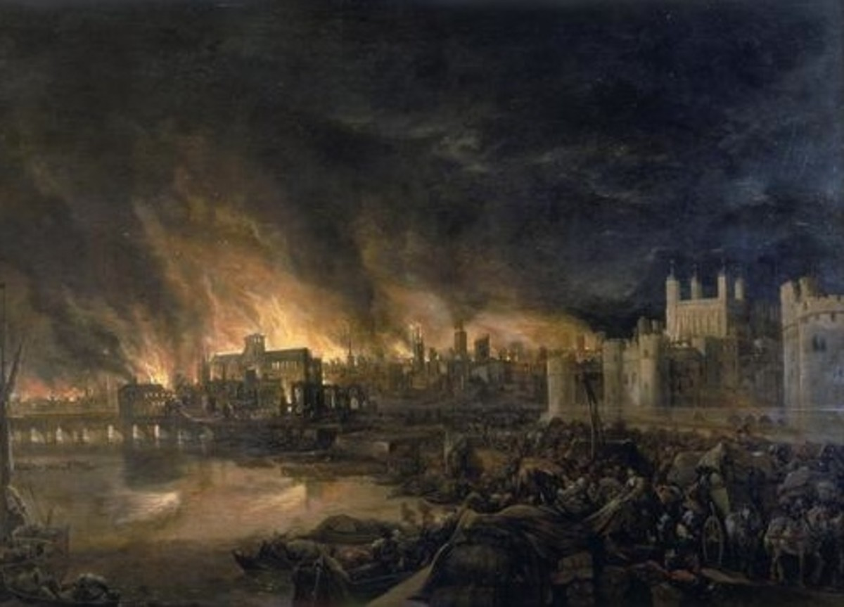 Old London Bridge fell victim to the Great Fire of London in 1666, during the reign of Charles II. Soldiers frantically tried to destroy the bridge from halfway to prevent the fire from spreading to Southwark