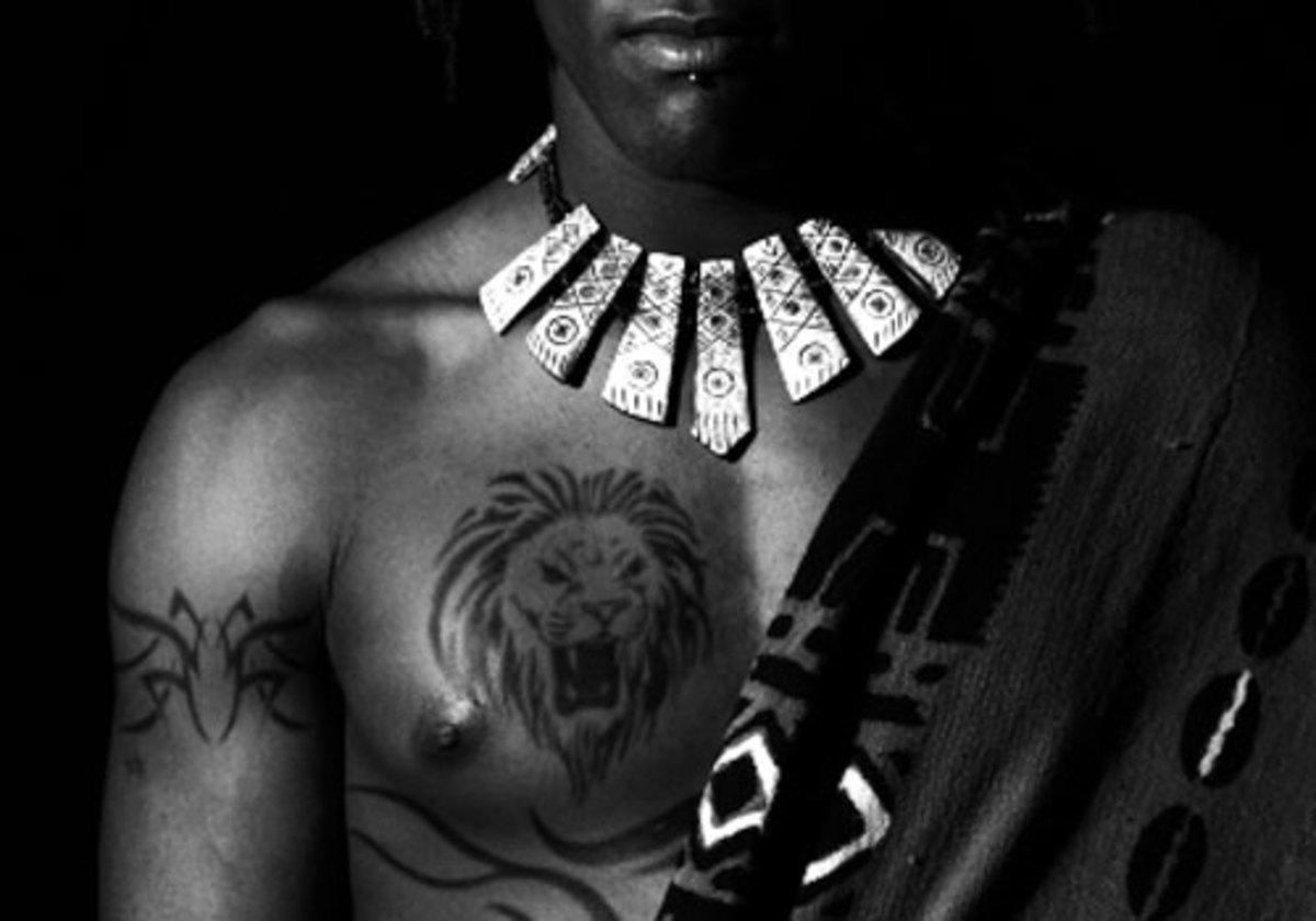 African Lion Tattoo